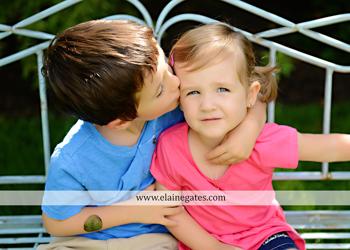 central pa portrait photographer bench kids kiss swing family md 1