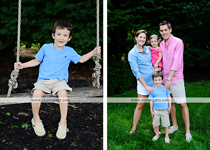 central pa portrait photographer bench kids kiss swing family md 6