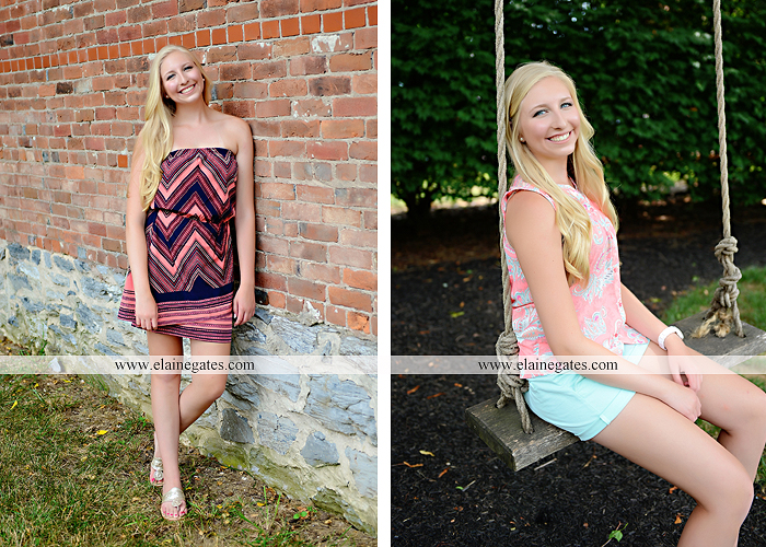 central pa senior portrait photographer brick wall swing wildflowers ballet stream creek fence hammock hf 1