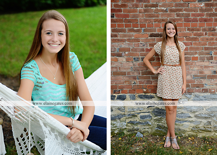 central pa senior portrait photographer hammock brick wall tree road stream creek wildflowers grass jh 1
