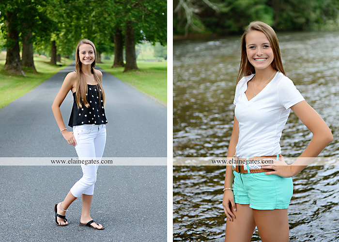 central pa senior portrait photographer hammock brick wall tree road stream creek wildflowers grass jh 2