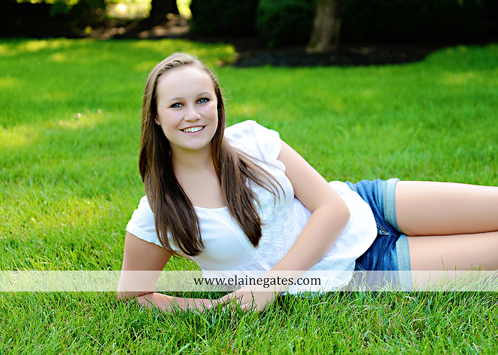 central pa senior portrait photographer road trees girls sisters friends sunflowers grass wildflowers tree water stream creek volleyball formal mc 3