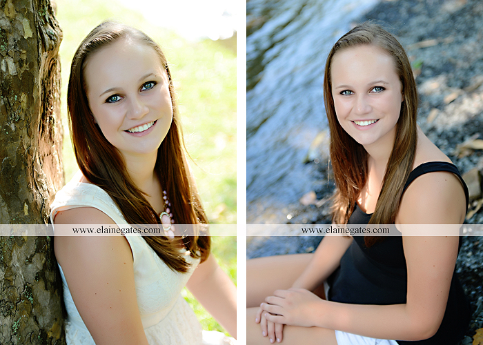 central pa senior portrait photographer road trees girls sisters friends sunflowers grass wildflowers tree water stream creek volleyball formal mc 5