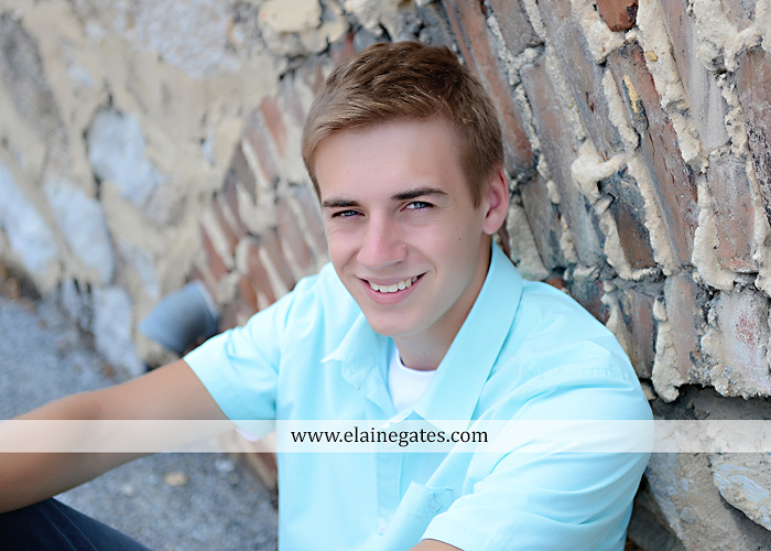 central pa senior portrait photographer trees woods brick stone wall urban stairs gate formal pa 4
