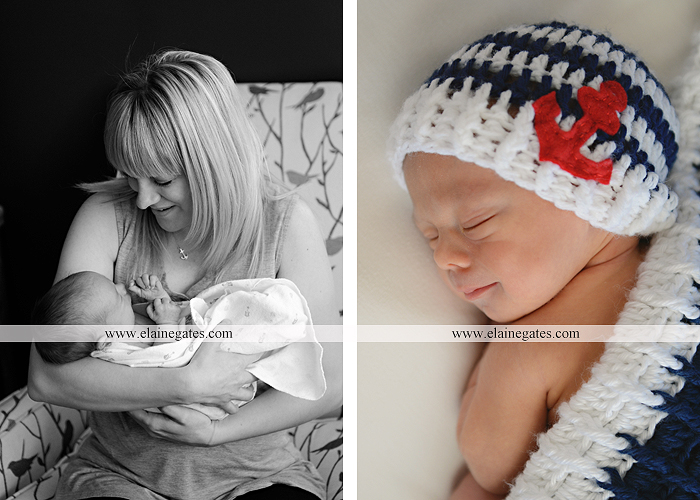Mechanicsburg Central PA newborn portrait photographer baby sleeping hat football mother child anchor fur blanket hardwood floor vl 3