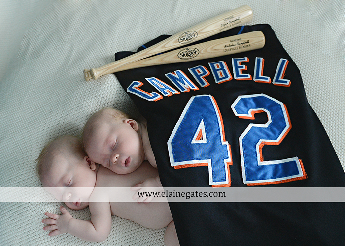 Mechanicsburg Central PA newborn portrait photographer twins hats baseball mets jersey bats sleeping lc 2