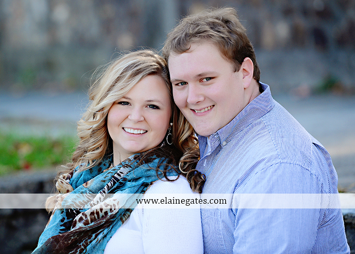 Mechanicsburg Central PA portrait photographer engagement couple hug embrace kiss Boiling Springs lake trees water ducks geese fall na 6