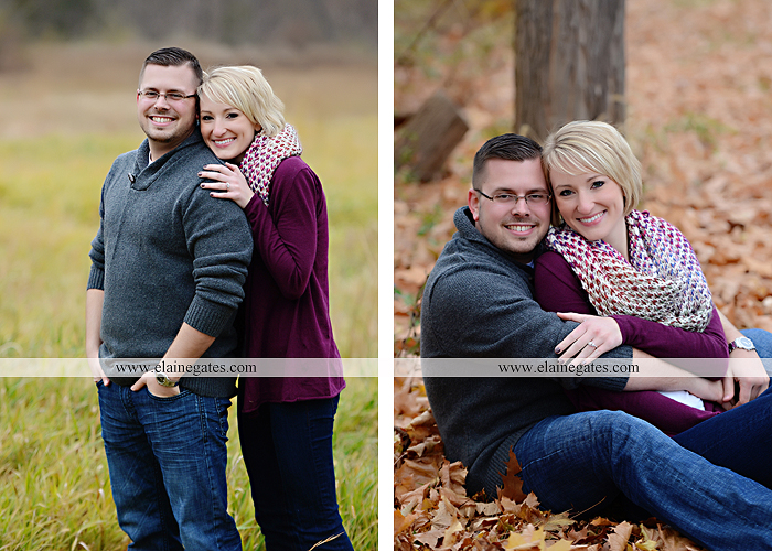 Mechanicsburg Central PA portrait photographer engagement outdoor water creek stream holding hands couple trees hug dog dock field lake leaves fall kiss jd 7