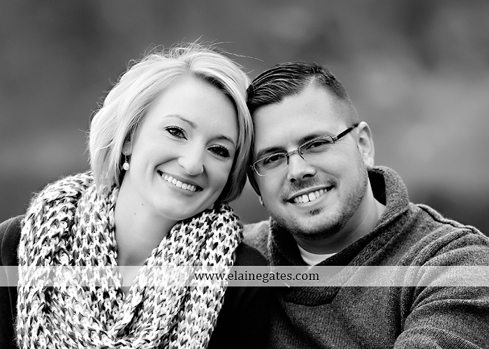 Mechanicsburg Central PA portrait photographer engagement outdoor water creek stream holding hands couple trees hug dog dock field lake leaves fall kiss jd 8