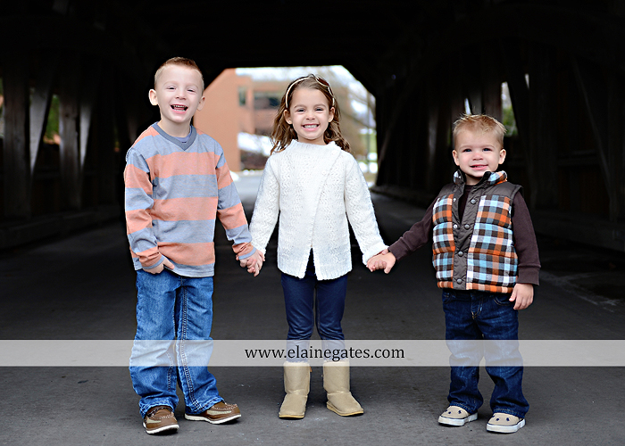 Mechanicsburg Central PA portrait photographer family outdoor kids father mother son daughter brother sister covered bridge holding hands kiss hug baby boy girl kkds 2