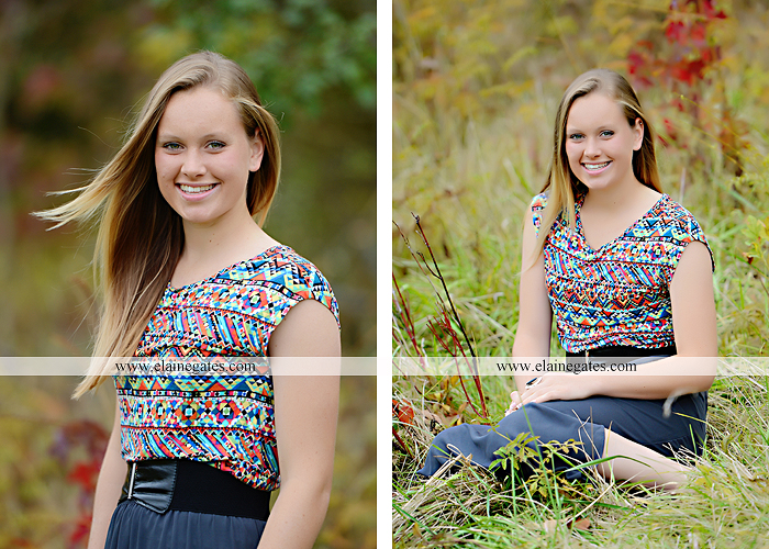 Mechanicsburg Central PA senior portrait photographer outdoor grass field leaves fall stone rock wall ivy fence mm 1