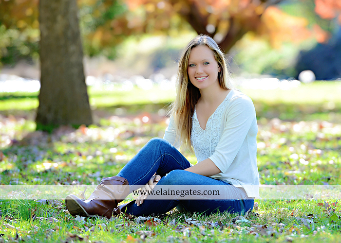 Mechanicsburg Central PA senior portrait photographer outdoor grass field leaves fall stone rock wall ivy fence mm 2