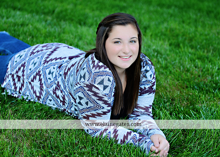 Mechanicsburg Central PA senior portrait photographer outdoor grass field sk 3