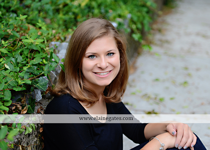 central pa senior portrait photographer tree hammock swing stone wall fence ivy wildflowers sr 4