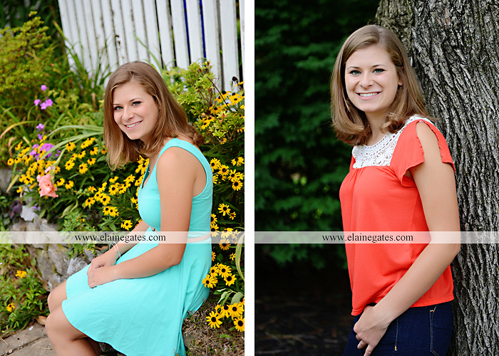 central pa senior portrait photographer tree hammock swing stone wall fence ivy wildflowers sr 6