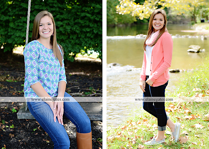central pa senior portrait photographer tree wildflowers road brick stone wall swing water stream creek fence grass field lf 4