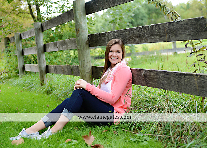 central pa senior portrait photographer tree wildflowers road brick stone wall swing water stream creek fence grass field lf 5