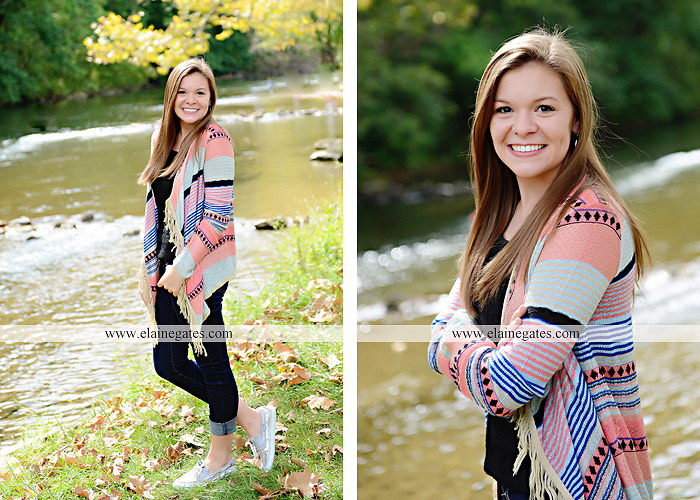 central pa senior portrait photographer tree wildflowers road brick stone wall swing water stream creek fence grass field lf 6