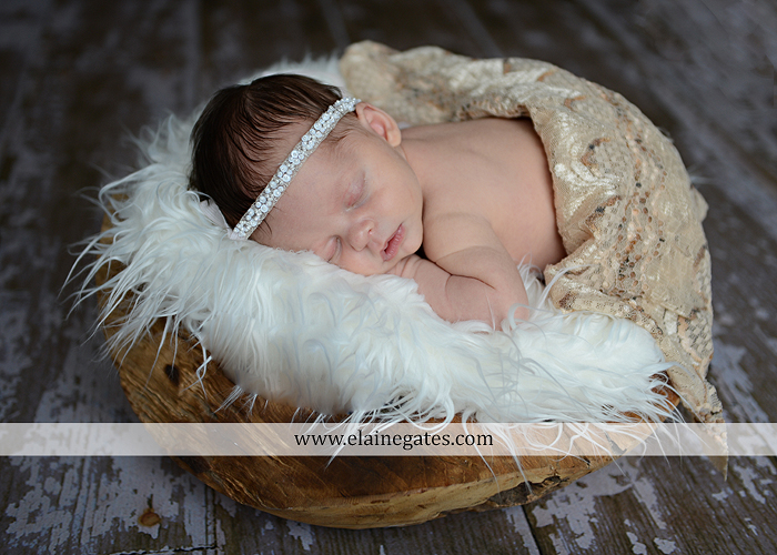 Mechanicsburg Central PA newborn portrait photographer baby girl blanket head band sleeping basket hardwood mommy mother kiss rp 2
