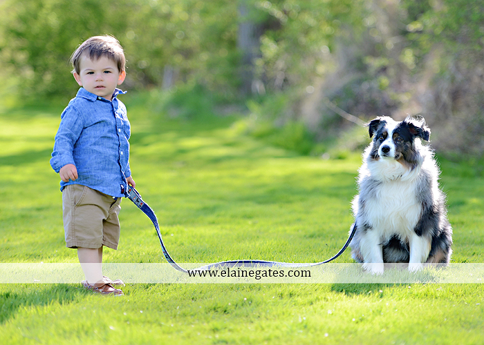 Mechanicsburg Central PA portrait photographer boy son trees water creek stream trees grass field dog maternity family father mother sf 4