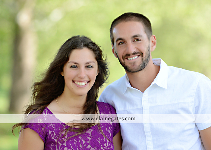 Mechanicsburg Central PA portrait photographer engagement trees fence road grass field kiss hug water stream creek holding hands mb 1