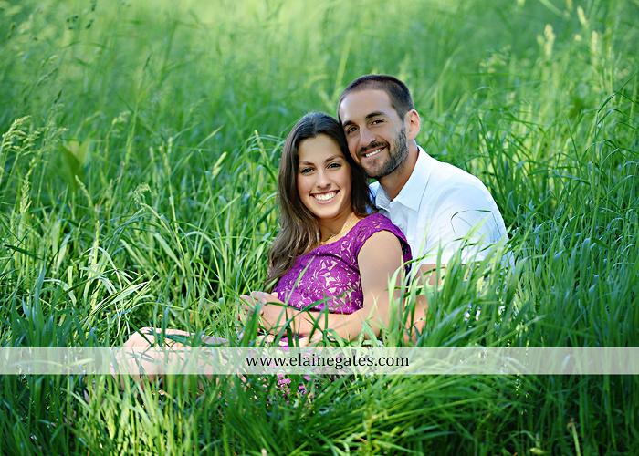 Mechanicsburg Central PA portrait photographer engagement trees fence road grass field kiss hug water stream creek holding hands mb 4