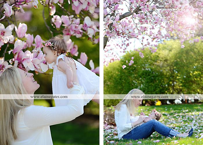 Mechanicsburg Central PA portrait photographer girl daughter mother trees flowers hug kiss grass bushes rp 3