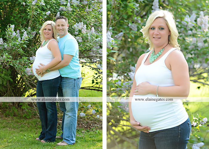 Mechanicsburg Central PA portrait photographer maternity trees grass water creek stream couple holding hands love heart hug lc 8
