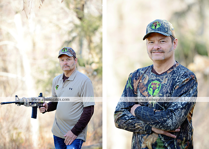 Mechanicsburg Central PA portrait photographer outdoor RAK'D UP gun rifle bow weapons camera mount trees woods camouflage brush rm 4