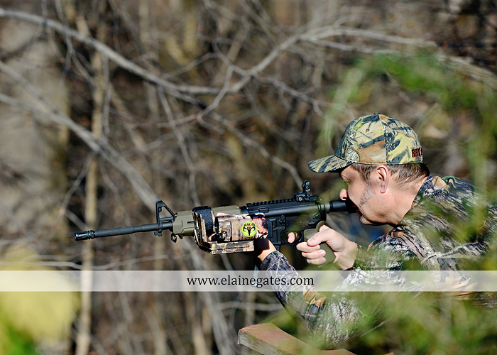 Mechanicsburg Central PA portrait photographer outdoor RAK'D UP gun rifle bow weapons camera mount trees woods camouflage brush rm 6