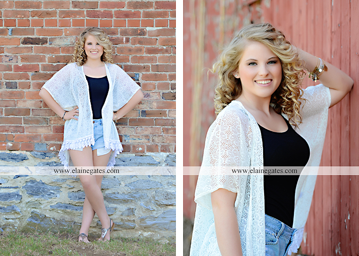 Mechanicsburg Central PA senior portrait photographer outdoor brick wall urban grass field stone wood barn fence city ep 10