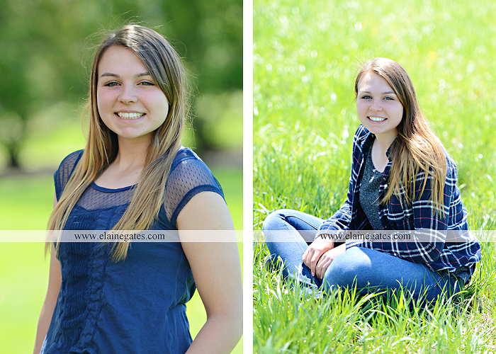 Mechanicsburg Central PA senior portrait photographer outdoor hammock bench field grass softball uniform jersey bat ball glove tree cs 2