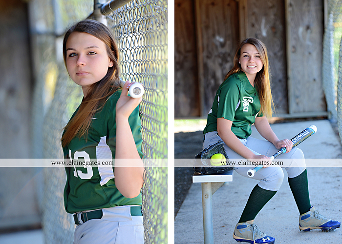 Mechanicsburg Central PA senior portrait photographer outdoor hammock bench field grass softball uniform jersey bat ball glove tree cs 3