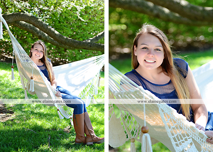 Mechanicsburg Central PA senior portrait photographer outdoor hammock bench field grass softball uniform jersey bat ball glove tree cs 5
