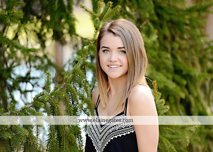 Mechanicsburg Central PA senior portrait photographer outdoor trees covered bridge rail road wood fence ca 3