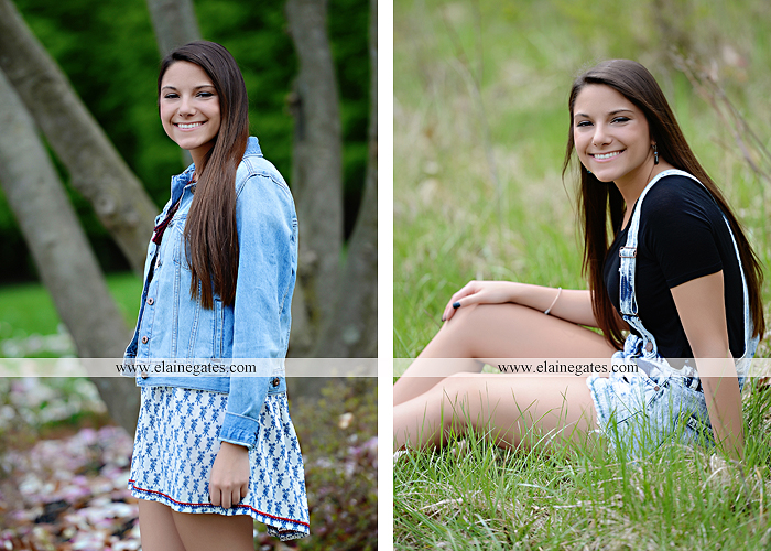 Mechanicsburg Central PA senior portrait photographer outdoor trees grass field covered bridge road fence messiah college hammock ji 1