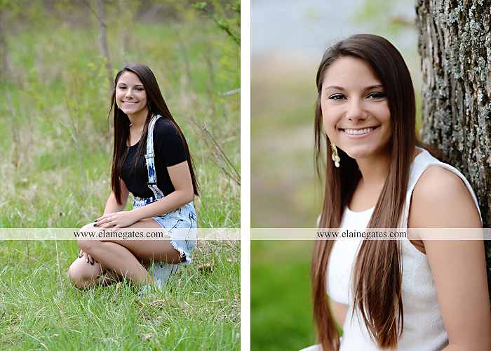Mechanicsburg Central PA senior portrait photographer outdoor trees grass field covered bridge road fence messiah college hammock ji 2
