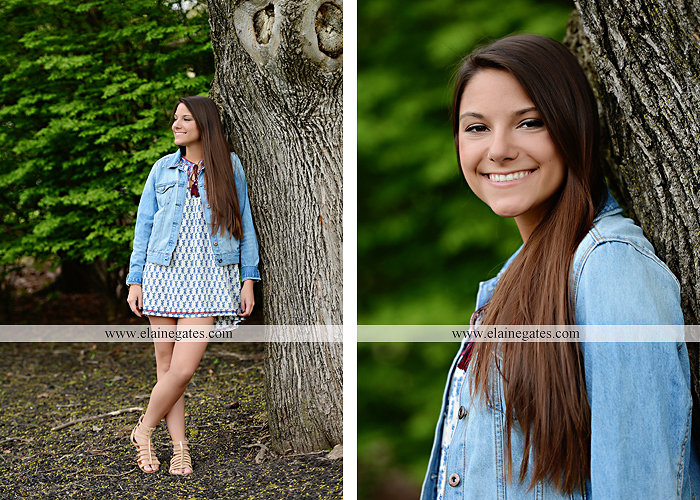 Mechanicsburg Central PA senior portrait photographer outdoor trees grass field covered bridge road fence messiah college hammock ji 6
