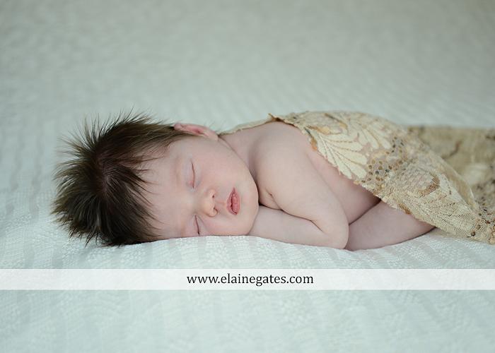 Mechanicsburg Central PA newborn portrait photographer baby girl father dad mother mom parents blanket sleeping bow headband dj 05
