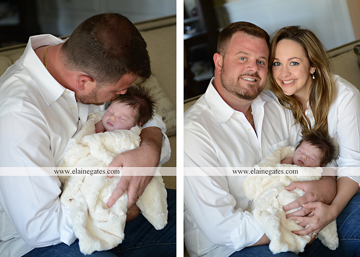 Mechanicsburg Central PA newborn portrait photographer baby girl father dad mother mom parents blanket sleeping bow headband dj 10
