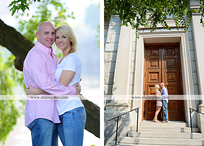 Mechanicsburg Central PA portrait photographer engagement outdoor Harrisburg bridge river water steps chalk date brick wall urban fire escape stairs as 01