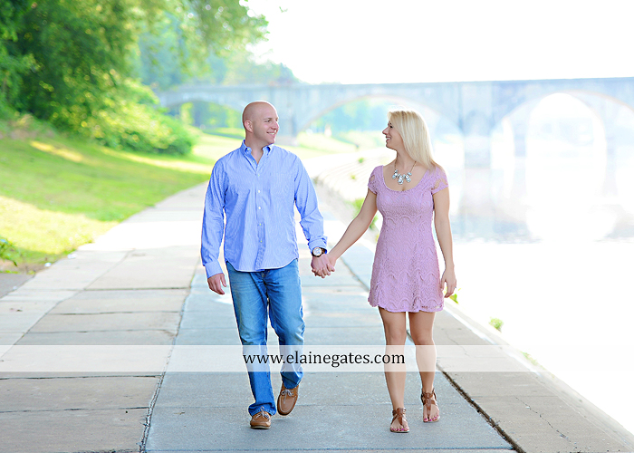 Mechanicsburg Central PA portrait photographer engagement outdoor Harrisburg bridge river water steps chalk date brick wall urban fire escape stairs as 04