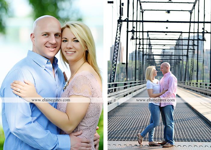 Mechanicsburg Central PA portrait photographer engagement outdoor Harrisburg bridge river water steps chalk date brick wall urban fire escape stairs as 08