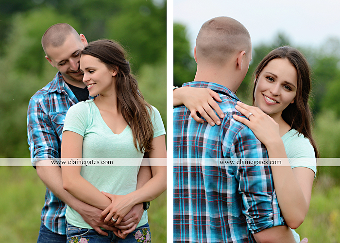 Mechanicsburg Central PA portrait photographer engagement outdoor couple water trees grass field dock water lake fishing lure boat holding hands picnic basket kiss path ph 02