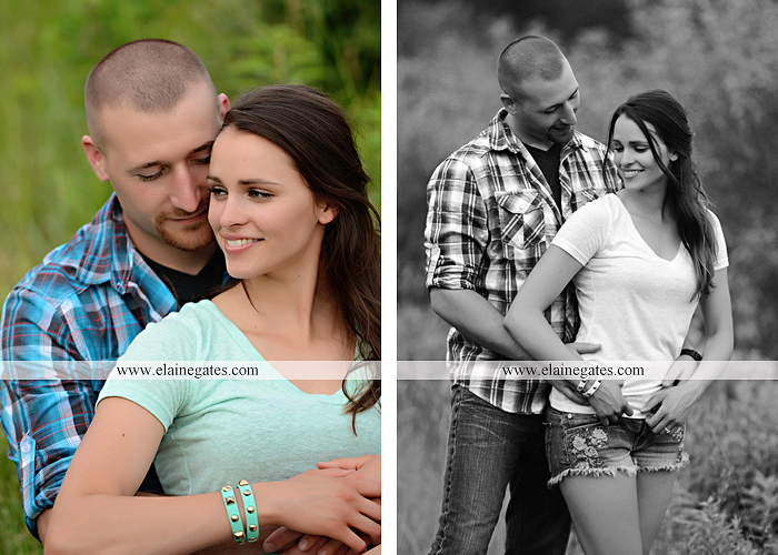 Mechanicsburg Central PA portrait photographer engagement outdoor couple water trees grass field dock water lake fishing lure boat holding hands picnic basket kiss path ph 03