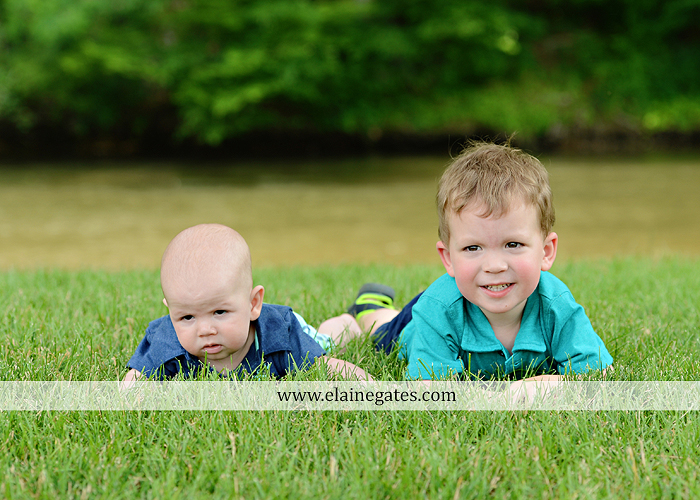 Mechanicsburg Central PA portrait photographer family boys brothers sons grass water stream creek covered bridge Messiah College rocks nw 01