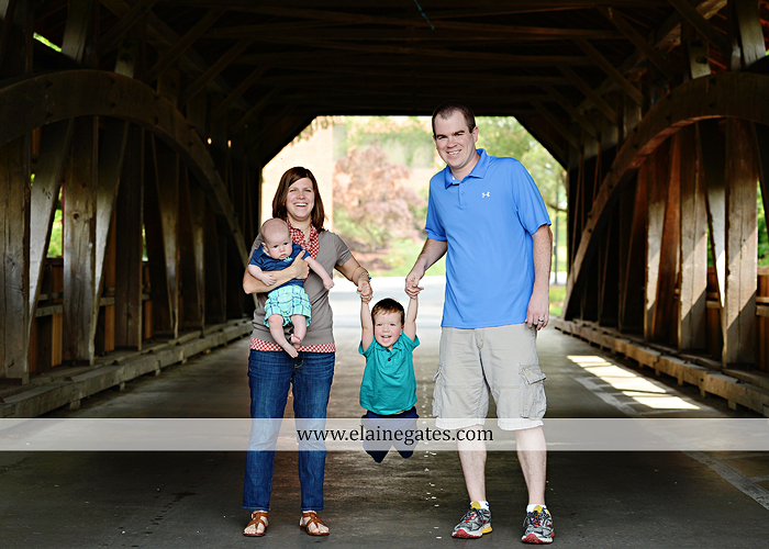 Mechanicsburg Central PA portrait photographer family boys brothers sons grass water stream creek covered bridge Messiah College rocks nw 03