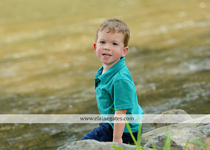 Mechanicsburg Central PA portrait photographer family boys brothers sons grass water stream creek covered bridge Messiah College rocks nw 04
