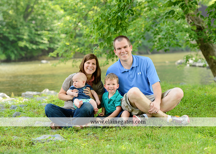 Mechanicsburg Central PA portrait photographer family boys brothers sons grass water stream creek covered bridge Messiah College rocks nw 07