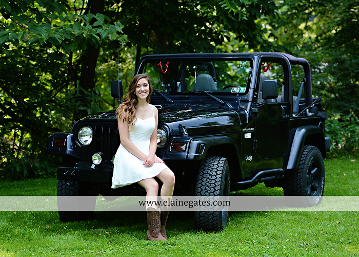 Mechanicsburg Central PA senior portrait photographer outdoor girl female field trees wood wall rustic barn door formal jeep wrangler grass wildflowers hammock swing mz 06